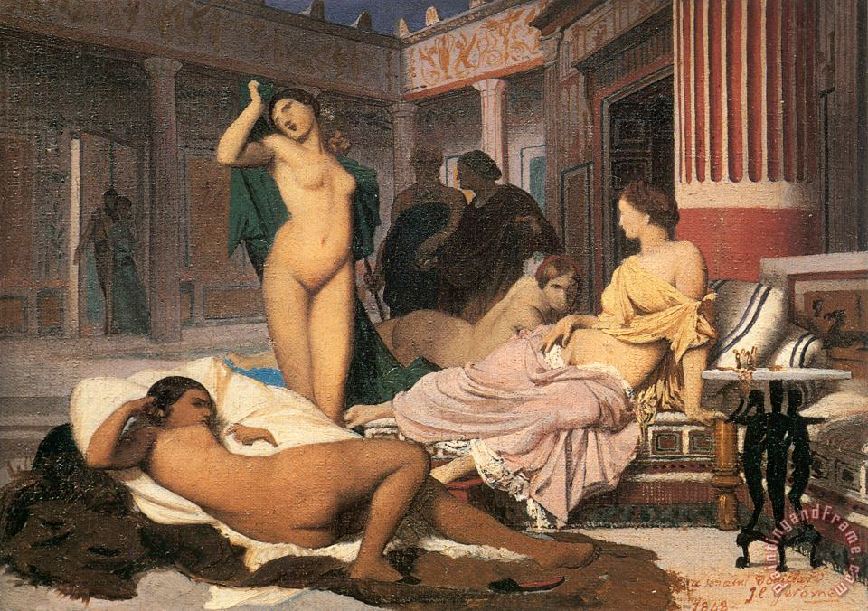 Greek Interior [sketch] painting - Jean Leon Gerome Greek Interior [sketch] Art Print